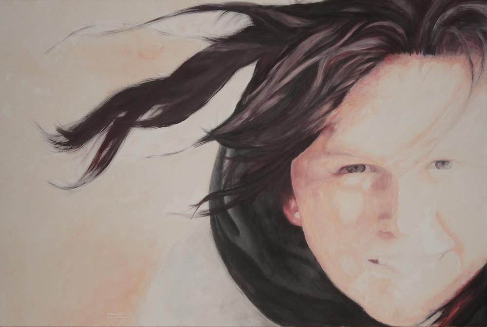 porträt, 2012, acryl auf Leinwand, 80 x 140 cm
